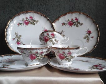 Vintage Tea Set with Roses
