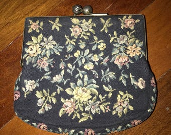 Vintage  tapestry bag/coin purse
