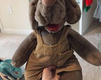 Wrinkles dog puppet