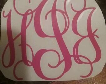 Monogram decals....Free shipping