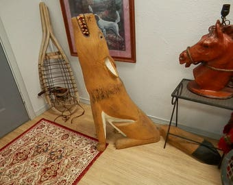 Leroy Archuleta folk art wood carving sculpture