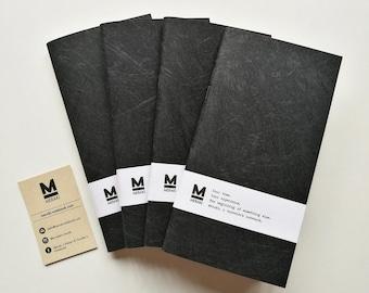 Sangiorgio Nerofumo | Handmade paper Notebook, travelers planner, diary, Bullet Journal refill for Fauxdori Midori Traveler's Regular size