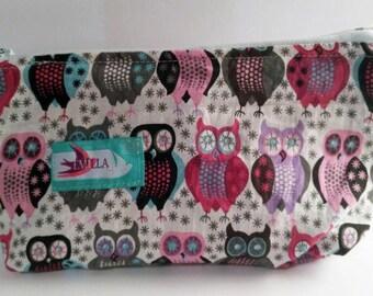 Emilla Small wet bag - Owl Together makeup bag, waterproof , storage
