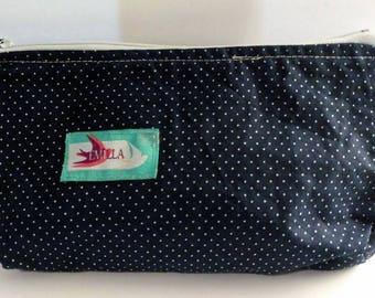 Emilla Small wet bag - Indigo makeup bag, waterproof , storage