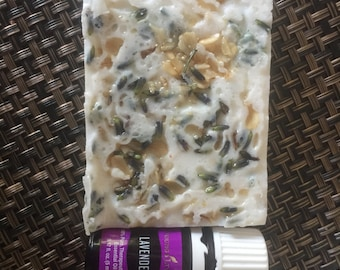 Lavender and rose all natural soap