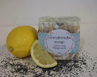 Handmade Lemon Poppy Seeds Soaps
