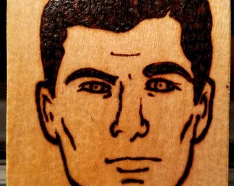 Sterling Archer FX Pyrography Rare Earth Magnet