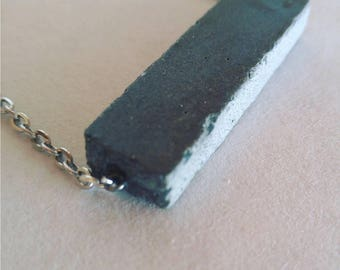 Concrete pendant necklace / modern jewlery / simple / cement /