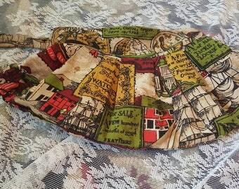 Gorgeous handmade purse from the 60s/70s/ Metal zipper/ vintage wristlet/ Vintage purse