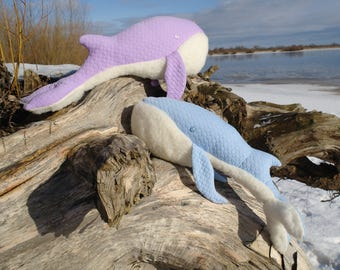 Soft toy Whale Keith Purple / Blue soft toy, home decoration, soft toy marine