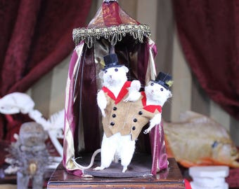 Siamese Mouse Taxidermy Sideshow Circus Performers