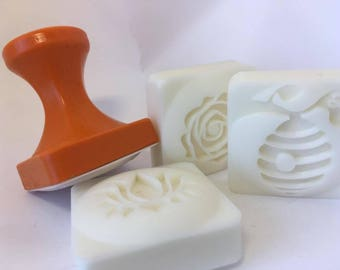 Custom Soap Stamp with / without handle - 2 sizes defined