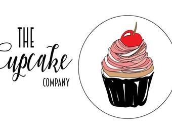Premade Business card. Premade Cupcake logo. Business Branding. Marketing Logo. Advertising. Illustrator. Pop Art Graphic.