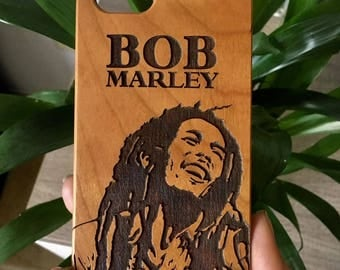 Bob Marley Mobile Wooden Case Iphone 6s 7 7 plus Samsung s6 s7 edge Bamboo