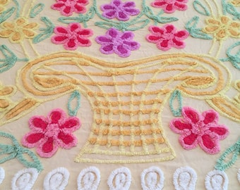 Vintage Chenille Full Size Bedspread