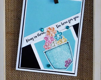 Made 2 Last Stampin UP..Pocket bouquet full of good cheer for a loved one in need.