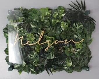 3D Acrylic Sign-11x14 Greenery Custom Name