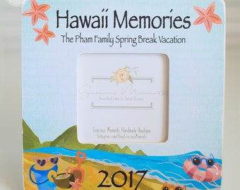 Family Vacation Memoires Personalize Frame