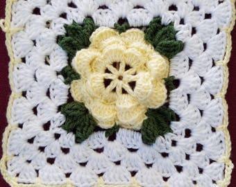 Romancing the Rose Afghan