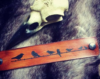 Leather Bracelet The Birds