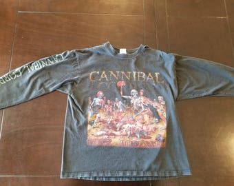 Cannibal Corpse Infesting America 2002 Tour shirt Mens size Large bloody orgy