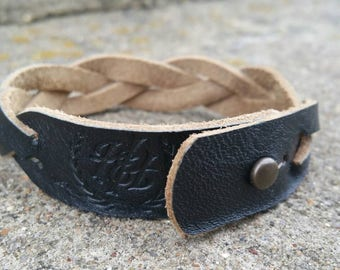 Braided Bracelet ~ Black Ammo Pouch