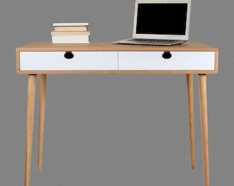 Table Walnut/oak (desk, toilet) solid 2CB Mind Century