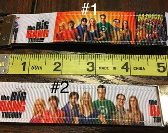 SALE - Big Bang Theory TV Show Key Fob/Chain Wristlet