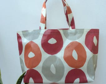 Oilcloth lunch/shoebag