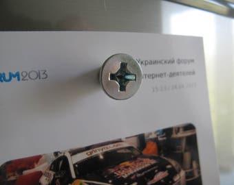 Refrigerator magnet as screw