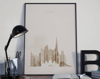 Dubai Art Dubai Watercolor Dubai Skyline Dubai Wall Art Dubai Poster Dubai Multicolor Dubai Print Dubai Wall Decor Dubai Photo Dubai Artwork