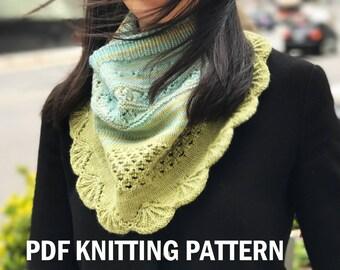 PDF KNITTING PATTERN - Women Cowl - Detox Water