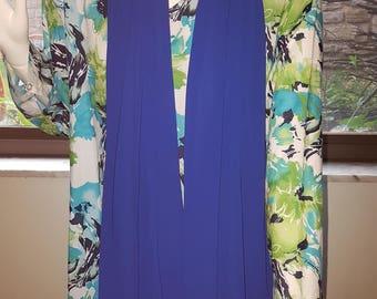 Blue Chiffon scarf