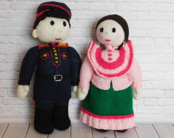 Handmade Dolls Knitted Plush Nursery Decor dolls Action Figure Personalized Toys Family Dolls Collectibl toy crochet doll 18 inch large doll