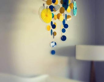 Baby Mobile: Blue & Yellow