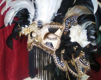 Feathered Venetian Mask