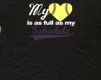 Softball tee shirt