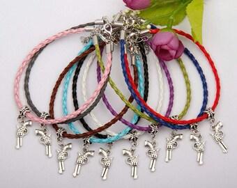 Gun charm bracelets