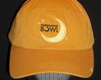 Vintage Hats Ball Cap Baseball Sports Hats Hollywood Bowl Mustard Yellow Low Profile/Unstructured Embroidered Strap Back Hat T31 MA7154