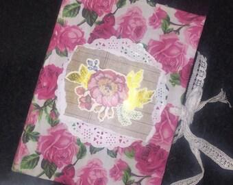 handmade rose junk journal