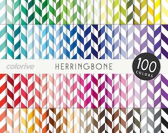 Herringbone digital paper 100 rainbow colors classic herringbone chevron fabric brights pastels neutrals printable scrapbooking paper