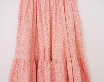 Vintage wijde pastel 70s rok met floral print