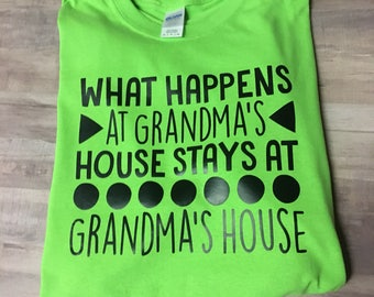 Blowout SALE What happens at grandmas tee SIZE XL