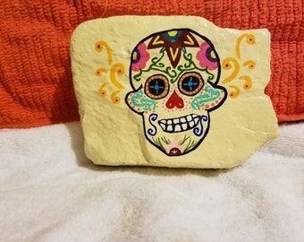 Painted Rock Sugar Skull