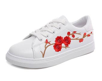 Flower Embroidered Shoes