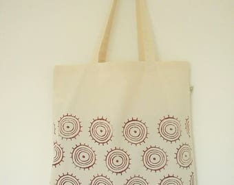 Organic cotton Handprinted tote bag
