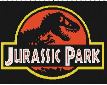 Jurassic Park Cross Stitch Pattern (Pattern #015)