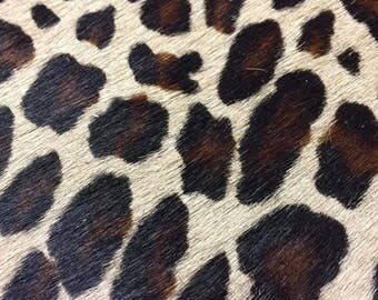 Printed Hair on Cowhide Leather, 1.4-1.5 mm,  leather skin, cowhide, authentic leather, purse leather, belt leather, leather wallet