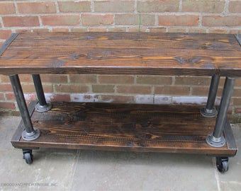 TV Entertainment Center, reclaimed wood media console, tv stand, industrial console