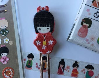 Handmade Japanese Kokeshi Doll Page Marker  **Introductory Price!!**
